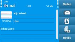 Nokia N97 - E-mail - hoe te versturen - Stap 10