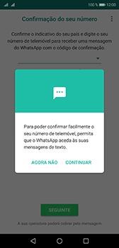 Huawei P20 - Aplicações - Como configurar o WhatsApp -  11