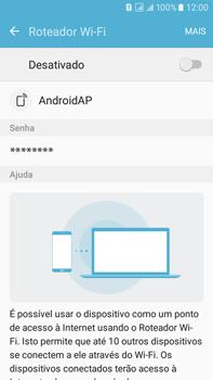 Samsung Galaxy On 7 - Wi-Fi - Como usar seu aparelho como um roteador de rede wi-fi - Etapa 6