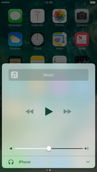 Apple Apple iPhone 6 Plus iOS 10 - iOS features - Control Centre - Step 9