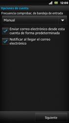 Sony Xperia U - E-mail - Configurar correo electrónico - Paso 15