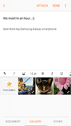 Samsung A320 Galaxy A3 (2017) - Email - Sending an email message - Step 12