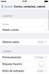 Apple iPhone 4S iOS 7 - E-mail - Configurar correo electrónico - Paso 14