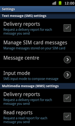 Samsung I9070 Galaxy S Advance - SMS - Manual configuration - Step 4
