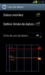 Samsung S7560 Galaxy Trend - Internet - Ver uso de datos - Paso 11