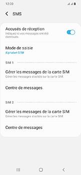 Samsung Galaxy A20e - SMS - configuration manuelle - Étape 9