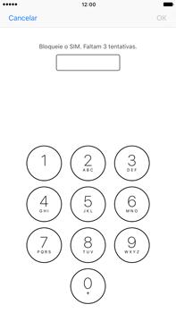 Apple iPhone 7 Plus - Segurança - Como ativar o código PIN do cartão de telemóvel -  6