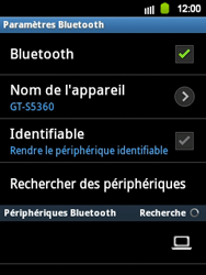 Samsung S5360 Galaxy Y - Bluetooth - connexion Bluetooth - Étape 9