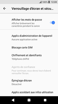 Sony Xperia XA2 Ultra - Sécuriser votre mobile - Personnaliser le code PIN de votre carte SIM - Étape 5