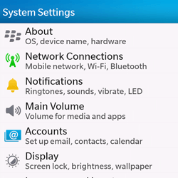 BlackBerry Q10 - Internet - Manual configuration - Step 4