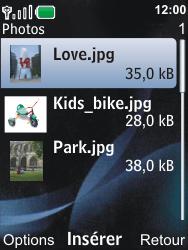 Nokia 6600i slide - E-mail - Envoi d