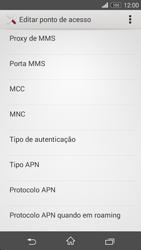 Sony Xperia M2 - Internet no telemóvel - Como configurar ligação à internet -  11