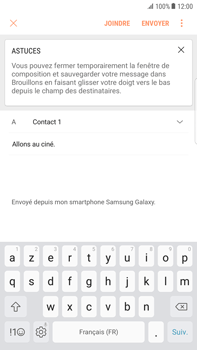 Samsung Galaxy S6 edge+ - Android Nougat - E-mail - Envoi d