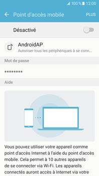 Samsung Samsung Galaxy J7 (2016) - Internet et connexion - Partager votre connexion en Wi-Fi - Étape 6