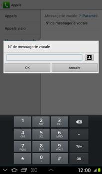Samsung P3100 Galaxy Tab 2 7-0 - Messagerie vocale - Configuration manuelle - Étape 8