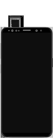 Samsung Galaxy S9 Android Pie - Appareil - comment insérer une carte SIM - Étape 6