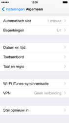 Apple iPhone 5s iOS 8 - Toestel - Fabrieksinstellingen terugzetten - Stap 5