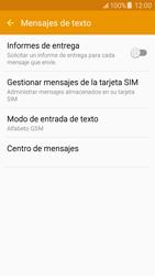 Samsung Galaxy J5 - Mensajería - Configurar el equipo para mensajes de texto - Paso 10