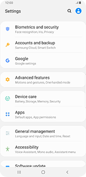 Samsung galaxy-s9-plus-android-pie - Data - Create a backup with your account - Step 4