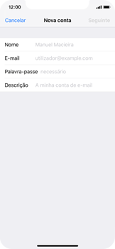 Apple iPhone X - iOS 12 - Email - Configurar a conta de Email -  8