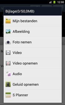 Samsung N7000 Galaxy Note - OS 4 ICS - E-mail - hoe te versturen - Stap 12