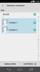 Huawei Ascend P6 (Model P6-U06) - Contacten en data - Contacten kopiëren van SIM naar toestel - Stap 8