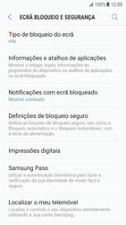 Samsung Galaxy S7 - Android Nougat - Segurança - Como ativar o código de bloqueio do ecrã -  13