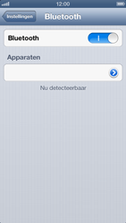 Apple iPhone 5 (iOS 6) - bluetooth - headset, carkit verbinding - stap 5