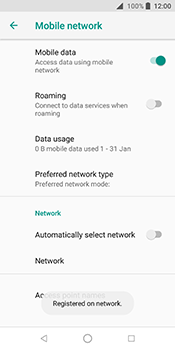 ZTE Blade V9 - Network - Manually select a network - Step 11