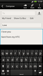 HTC S728e One X Plus - E-mail - Sending emails - Step 9