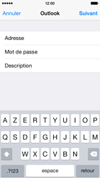 Apple iPhone 5s - iOS 8 - E-mail - Configuration manuelle (outlook) - Étape 7