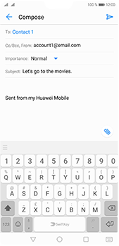 Huawei P20 Pro - Email - Sending an email message - Step 8