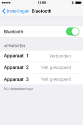 Apple iPhone 4 iOS 7 - bluetooth - headset, carkit verbinding - stap 7