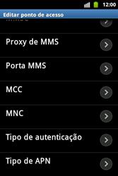 Samsung Galaxy Ace - Mensagens - Como configurar seu celular para mensagens multimídia (MMS) - Etapa 13