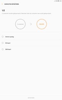 Samsung galaxy-tab-a-10-1-android-oreo - Contacten en data - Contacten kopiëren van toestel naar SIM - Stap 13