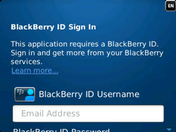 BlackBerry 9320 Curve - BlackBerry activation - BlackBerry ID activation - Step 6
