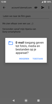 Sony xperia-xz2-h8216-android-pie - E-mail - Bericht met attachment versturen - Stap 11