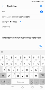 Huawei P Smart (Model FIG-LX1) - E-mail - Bericht met attachment versturen - Stap 5