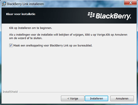 BlackBerry Leap - Software - Download en installeer PC synchronisatie software - Stap 8