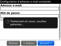BlackBerry curve 3G - E-mails - Ajouter ou modifier un compte e-mail - Étape 10