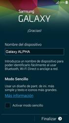 Samsung G850F Galaxy Alpha - Primeros pasos - Activar el equipo - Paso 14