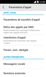 Huawei Ascend Y330 - Messagerie vocale - configuration manuelle - Étape 6
