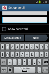 Samsung S6810P Galaxy Fame - E-mail - Manual configuration - Step 6