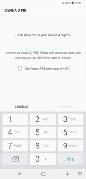 Samsung Galaxy Note 8 - Segurança - Como ativar o código de bloqueio do ecrã -  7