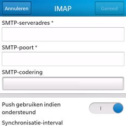 BlackBerry Q5 - E-mail - Account instellen (IMAP zonder SMTP-verificatie) - Stap 13