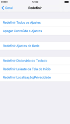 Apple iPhone iOS 10 - Funções básicas - Como restaurar as configurações originais do seu aparelho - Etapa 7