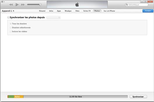 Apple iPhone XS - iOS 12 - Photos, vidéos, musique - Récupérer vos contenus multimédias avec un ordinateur - Étape 6
