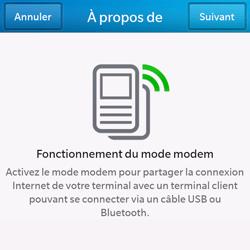 BlackBerry Q10 - Internet et connexion - Utiliser le mode modem par USB - Étape 6