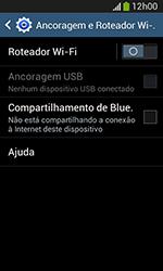 Samsung Galaxy Grand Neo - Wi-Fi - Como usar seu aparelho como um roteador de rede wi-fi - Etapa 6