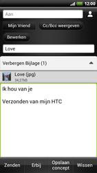 HTC Z715e Sensation XE - OS 4 ICS - E-mail - hoe te versturen - Stap 14